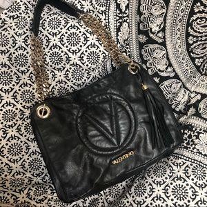Valentino Verra black leather